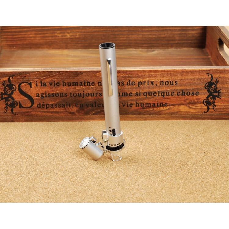 Kính lúp 100X cầm tay có đèn V1 (tặng kèm miếng thép đa năng 11in1)