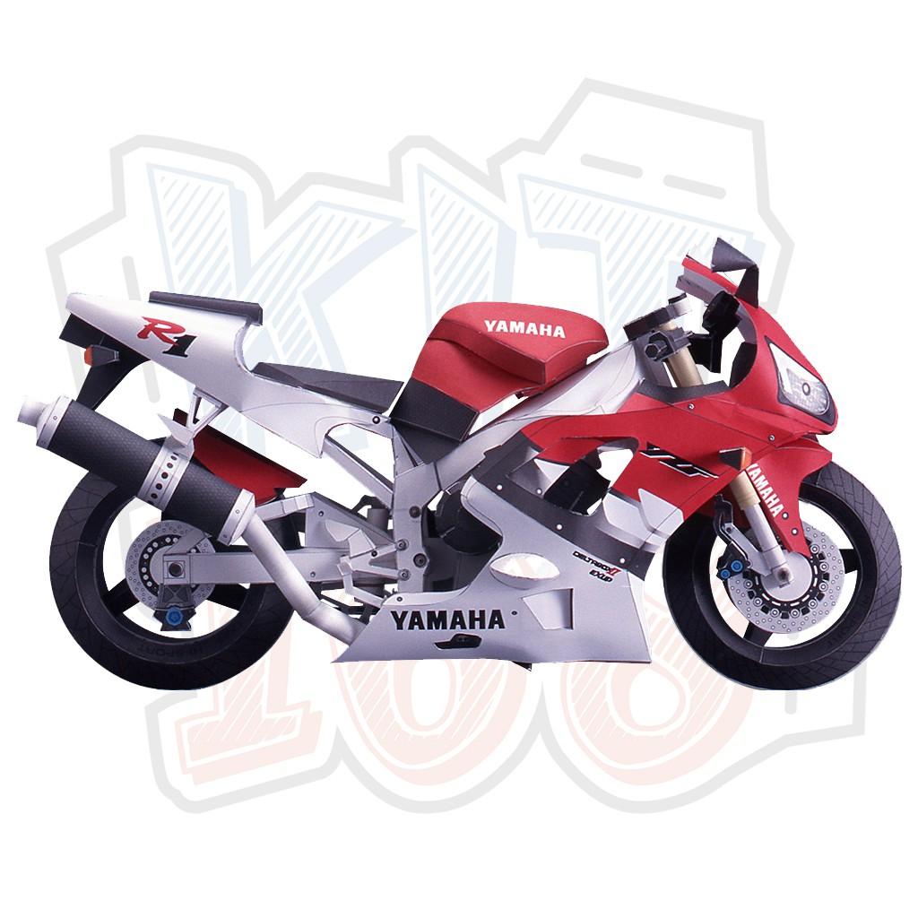 Mô hình giấy xe máy Yamaha YZF-R1 (1998)