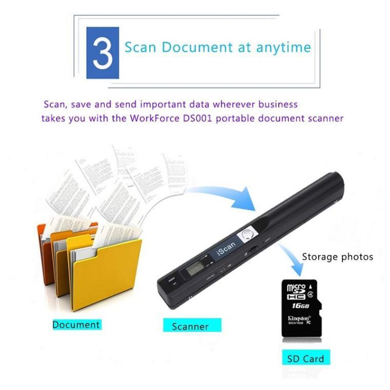 Máy Scan tài liệu cầm tay , thiết bị Scan màu di động