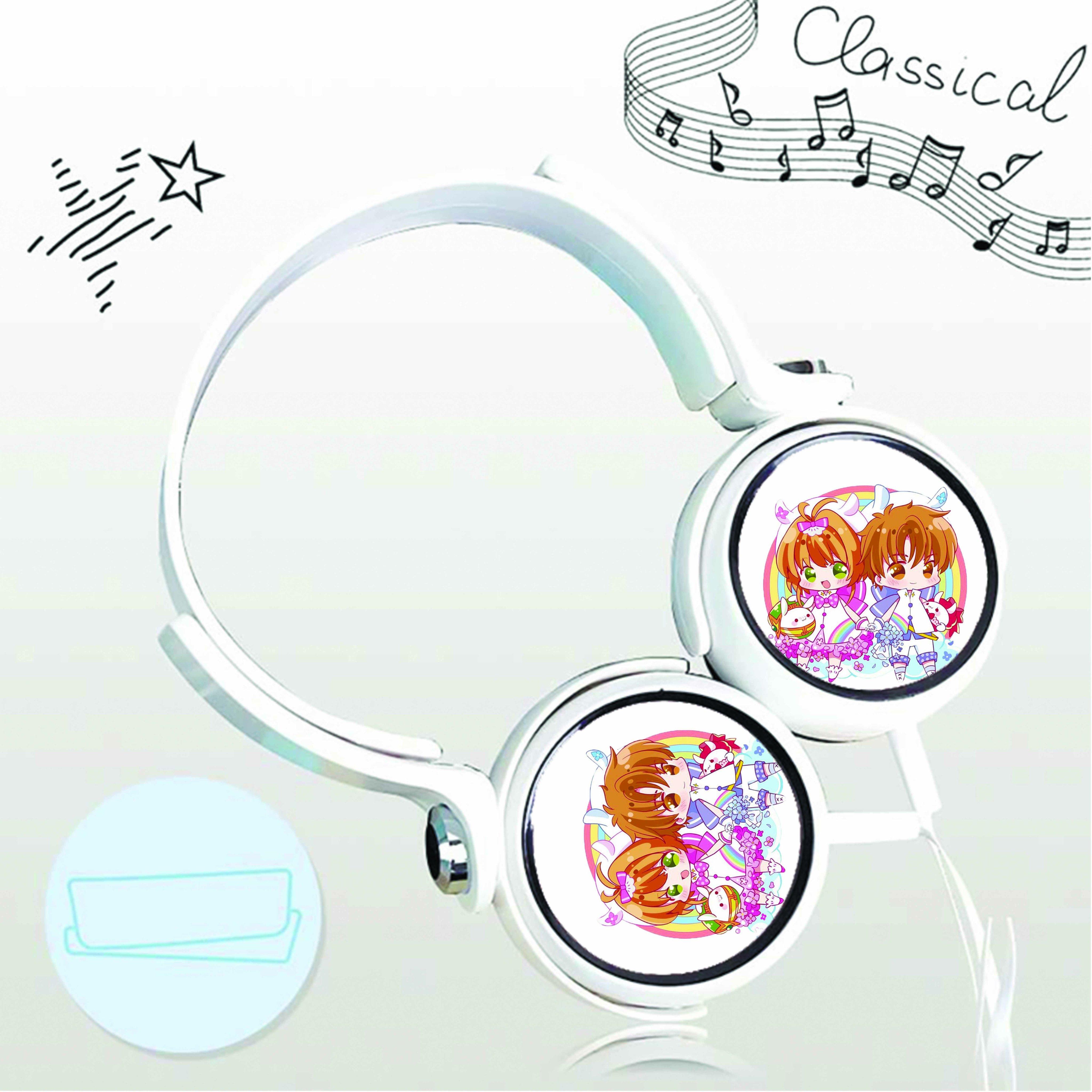 Tai nghe chụp in hình Thủ Lĩnh Thẻ Bài - Cardcaptor Sakura anime chibi cắm dây có mic
