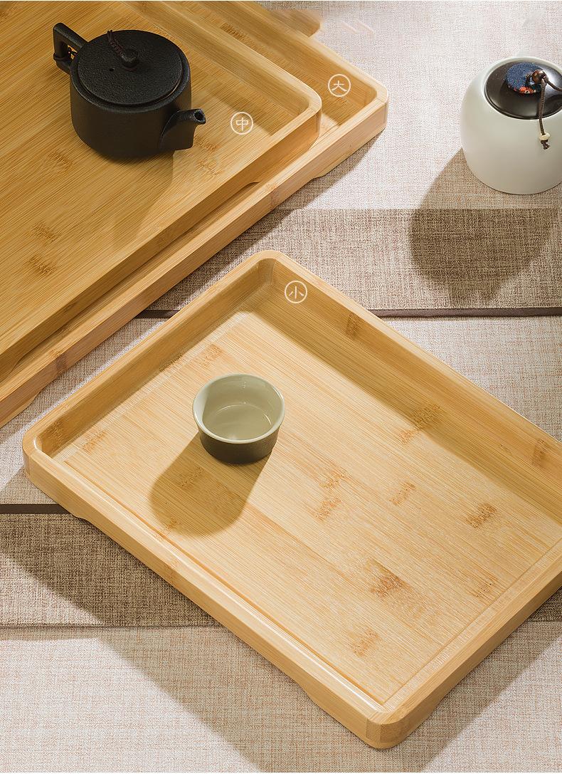 Khay trà bàn trà tre chống mối mọt cong vênh phù hợp với môi trường nóng ẩm cao tại Việt Nam,Kích thước 33 x 25 x 2,6cm,Màu Gỗ Tre nguyên bản sáng đẹp dễ dàng lau rửa (Tặng kèm 1 Dụng cụ gắp trà và khăn lau bàn trà) - Khay Tre Uống Trà bằng Gỗ Tre