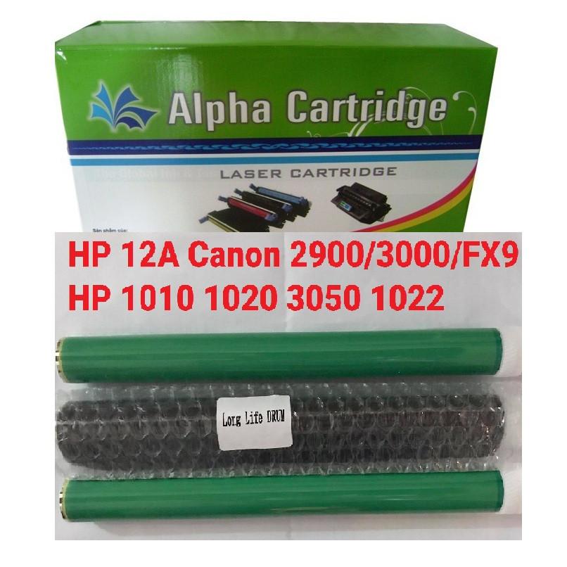 Drum trống in 12A LongLife loại tốt chính hãng Alphacartridge dành cho hộp mực máy in Canon 2900 3000 FX9 303 HP 1010 1020 3050