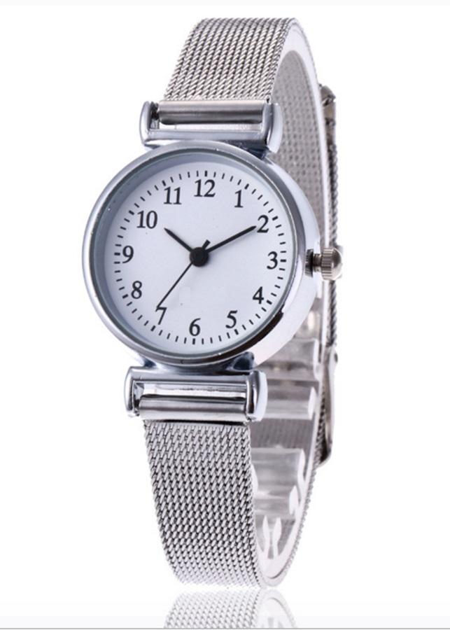 Đồng hồ nữ mặt tròn dây kim loại Haint Boutique DH40