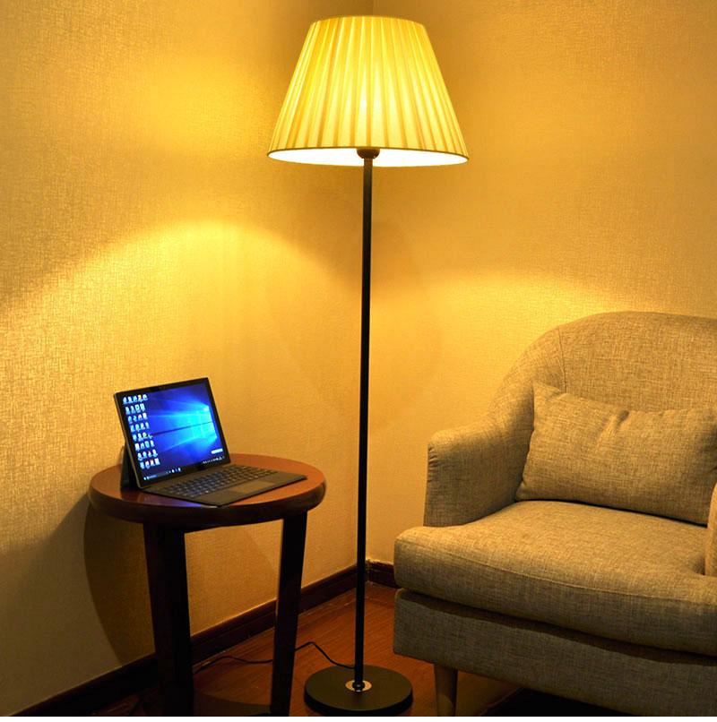 Đèn cây đứng MINGYU trang trí nội thất phòng khách, phòng ngủ phong cách Châu Âu, đèn LED 9W và có điều khiển từ xa (hàng nhập khẩu)