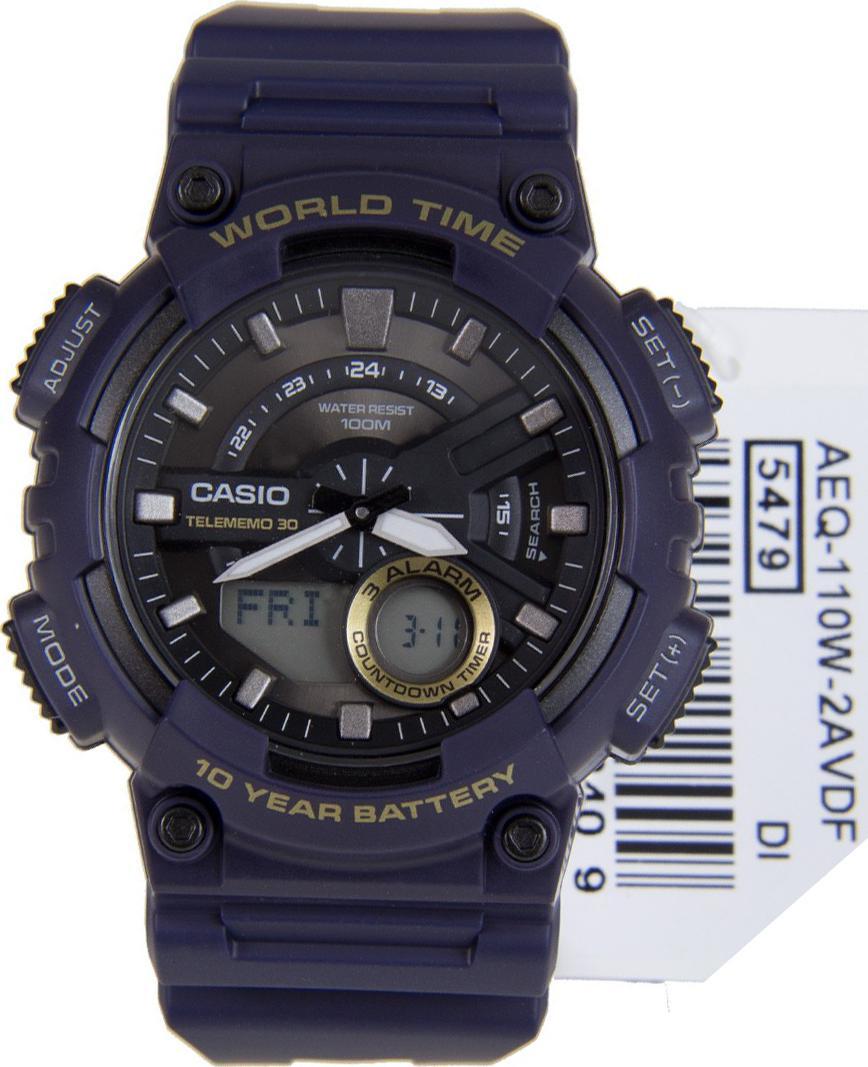 Đồng hồ nam dây nhựa Casio AEQ-110W-2AVDF