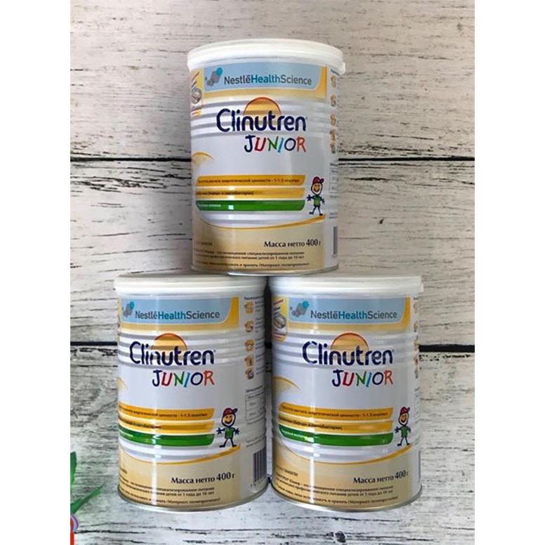 Combo 3 hộp Sữa béo Clinutren Junior Nga cho trẻ từ 1-10 tuổi (400g)