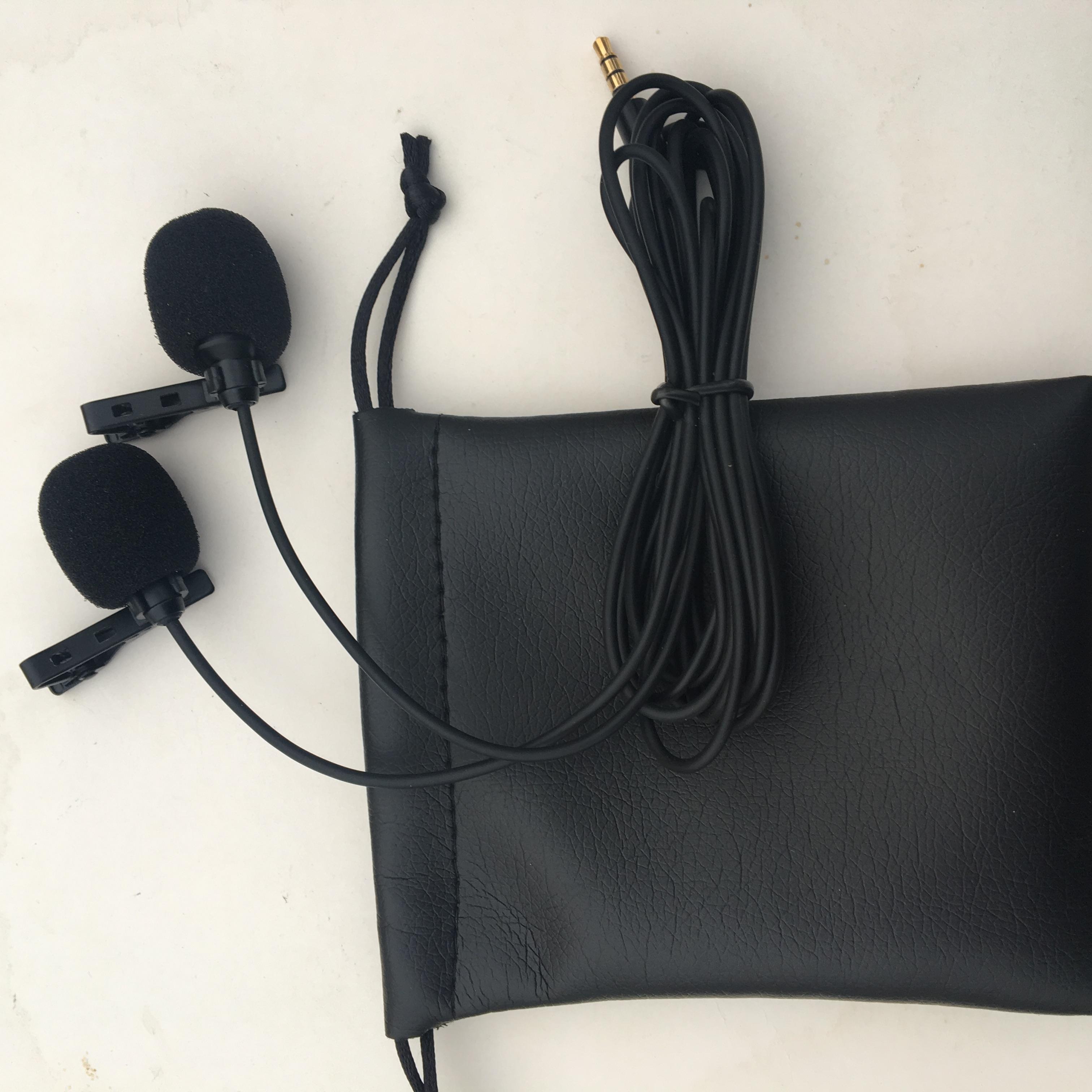 Micro kẹp áo thu âm đôi dùng cho điện thoại, máy tính bảng, laptop