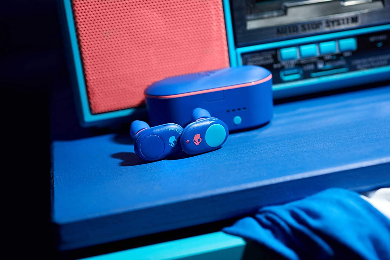 Tai nghe True Wireless Bluetooth Skullcandy Push- Xanh Biển - Hàng Chính Hãng
