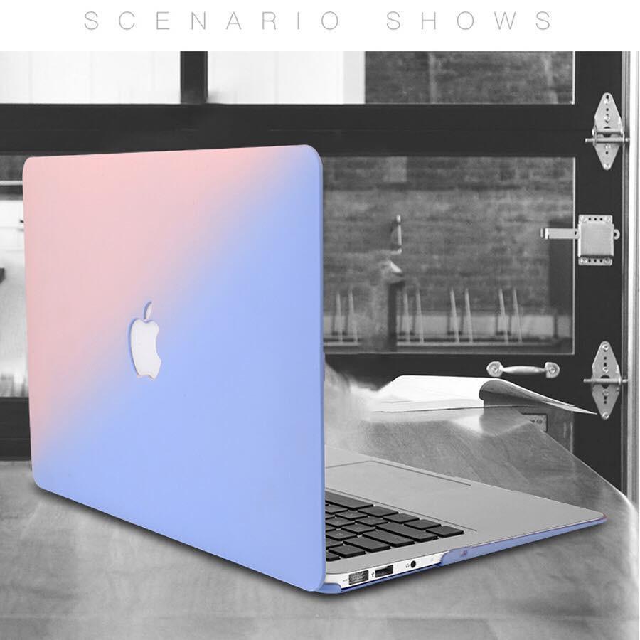 Case Macbook ,Ốp Macbook Màu Ombre Đủ Dòng (Tặng Kèm Nút Chống Bụi + Chống gãy dây sạc )