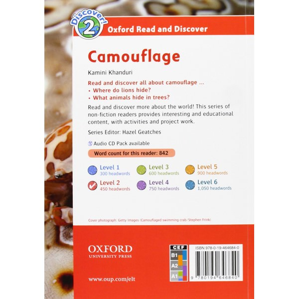 Oxford Read and Discover 2: Camouflage Audio CD Pack