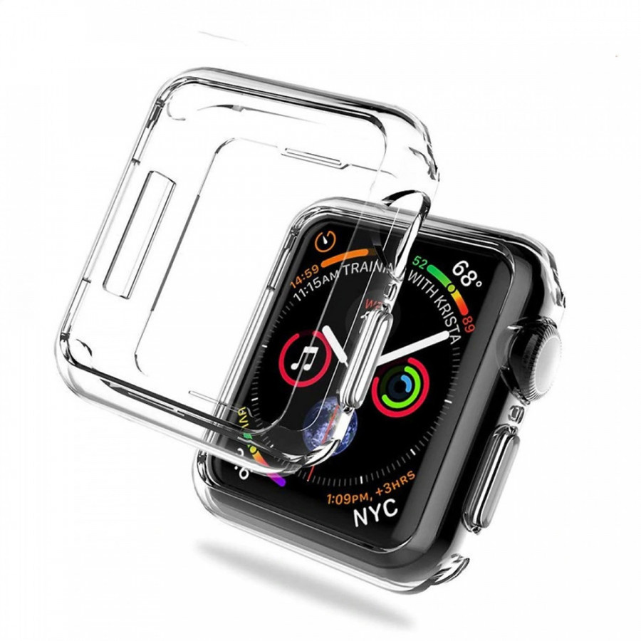 Case ốp bảo vệ silicon dẻo cho Apple Watch 38mm (chống va đập trầy xước, chống bụi, bảo vệ viền) - Hàng nhập khẩu