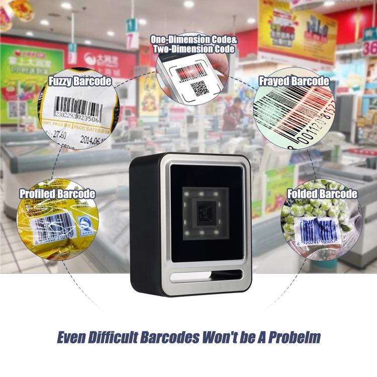 Máy quét mã vạch siêu thị YHD 9200 2D, Đầu đọc mã vạch hàng hóa có dây, Máy đọc mã vạch sản phẩm để bàn dùng cho cửa hàng siêu thị - Hàng nhập khẩu