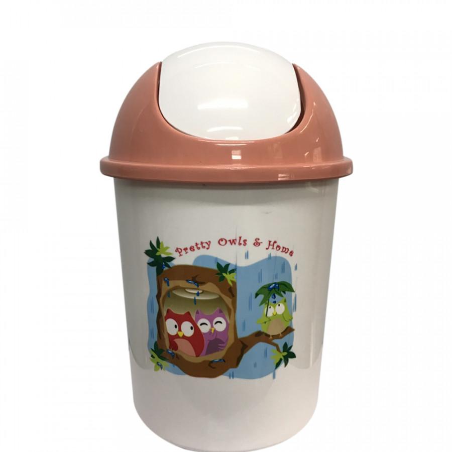 Thùng rác nắp lật Happy ware 8,5l nhập khẩu Thái Lan