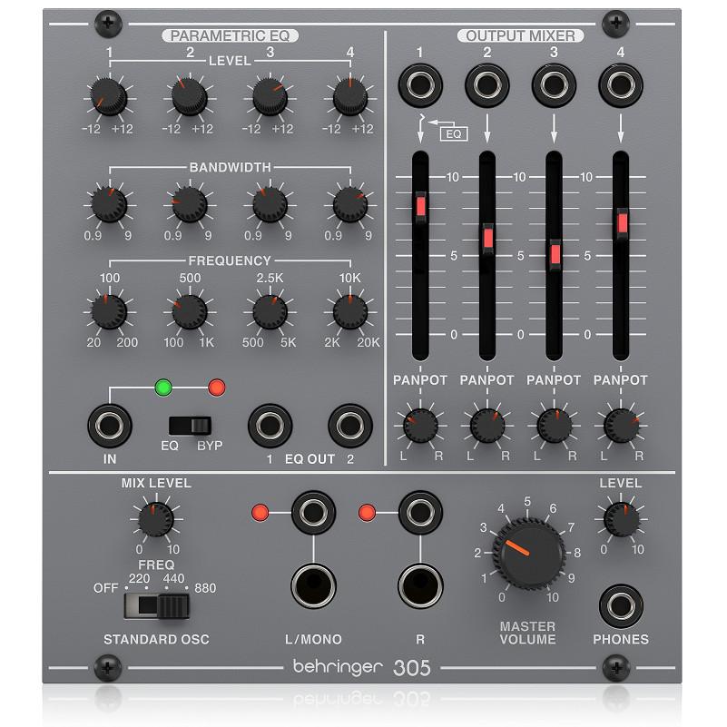 BEHRINGER 305 EQ/MIXER/OUTPUT Module for Eurorack-Hàng Chính Hãng