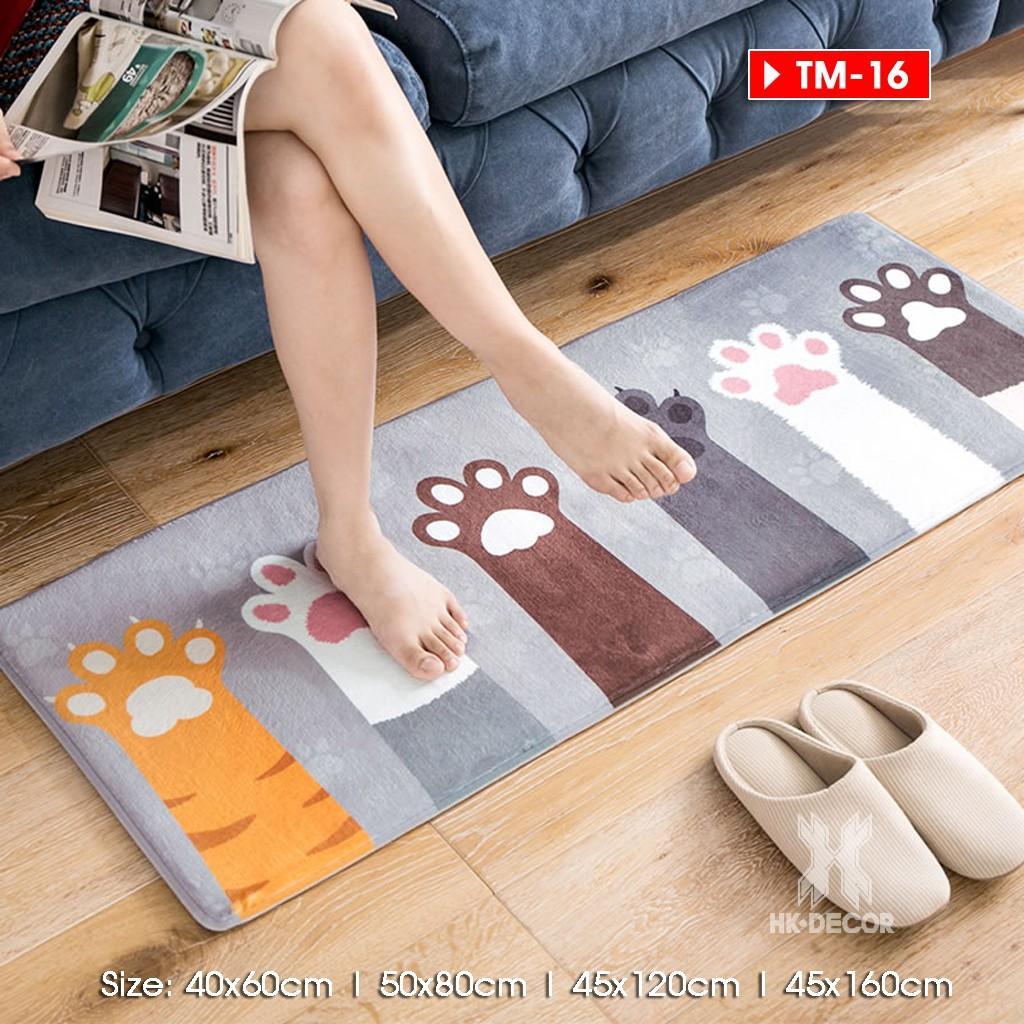Thảm chùi chân lông mịn xuất Nhật, thảm lau chân, thảm trải cạnh giường ngủ [Size 45x120cm
