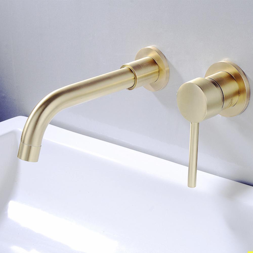 Vòi rửa lavabo gắn tường nóng lạnh VOI0021-Thiết kế giản lược, dễ sử dụng