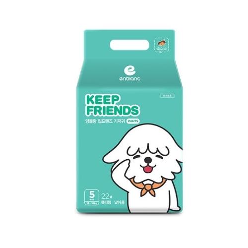 Tã quần nội địa Hàn Quốc Enblanc Keep Friend size 5 bé trai (XL 22 miếng)