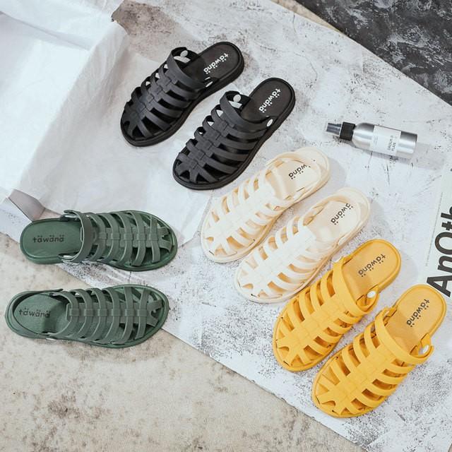 Dép sục rọ, sandal nhựa đế mềm đi biển