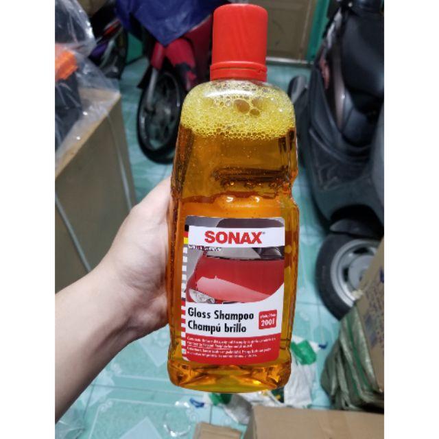 Nước rửa xe sonax 1 lít siêu sach