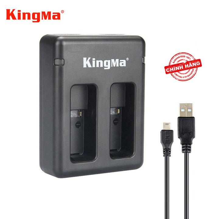 Sạc pin đôi nhanh KingMa cho GoPro Hero 7 black  và cáp sạc - Hàng chính hãng