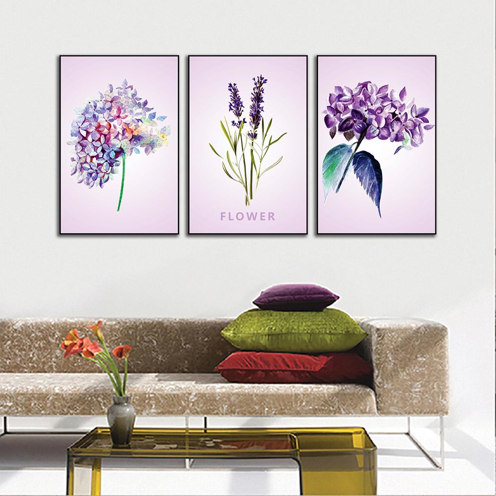 Tranh hiện đại hoa lá trang nhã POST3-02