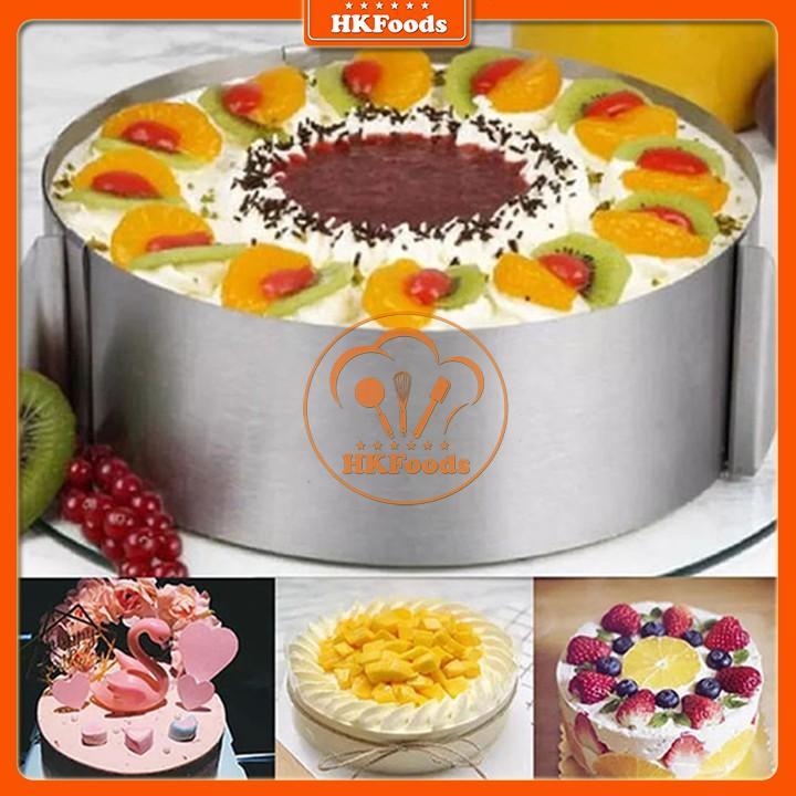 Khuôn ring làm bánh mousse, tiramisu tròn thay đổi kích thước 16-30cm