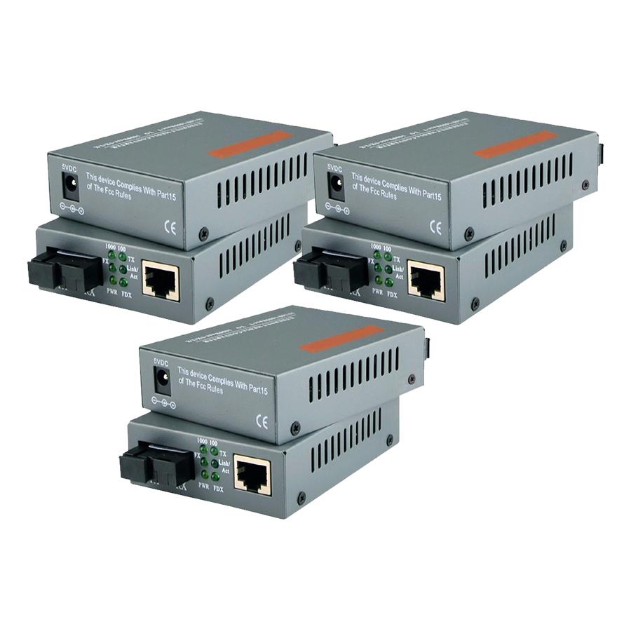 3 Cặp Converter Quang 1GB - Netlink Single Mode 1 Sợi Quang - Hàng Nhập Khẩu
