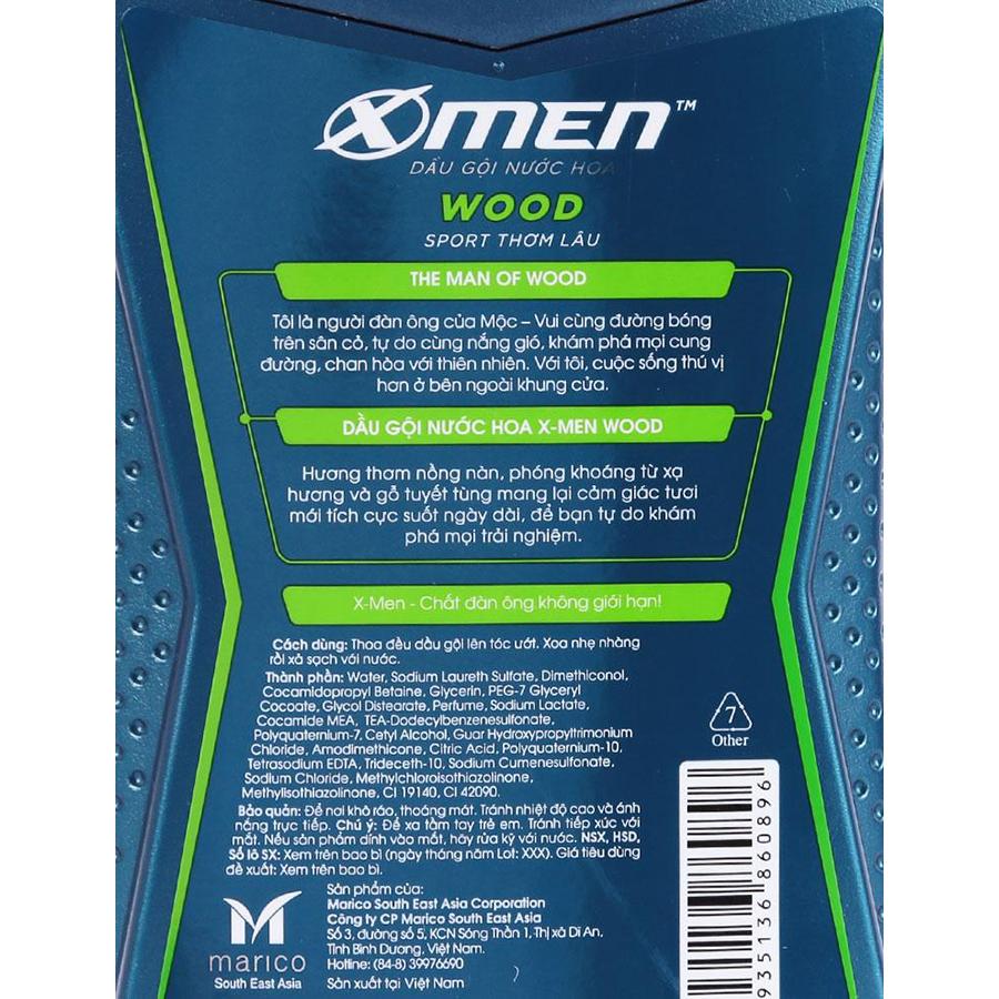 Dầu Gội Nước Hoa Thơm Lâu X-Men Wood Sport (380g)