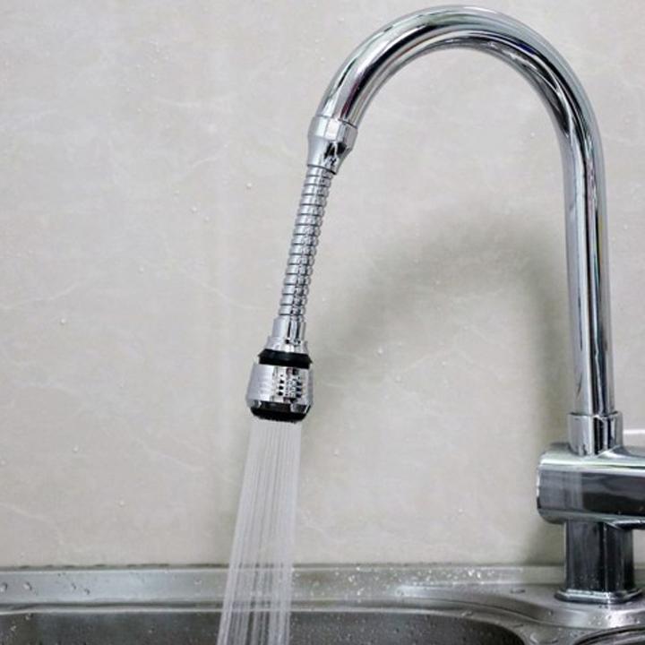 Đầu nối dài vòi nước tăng áp xoay 360 độ