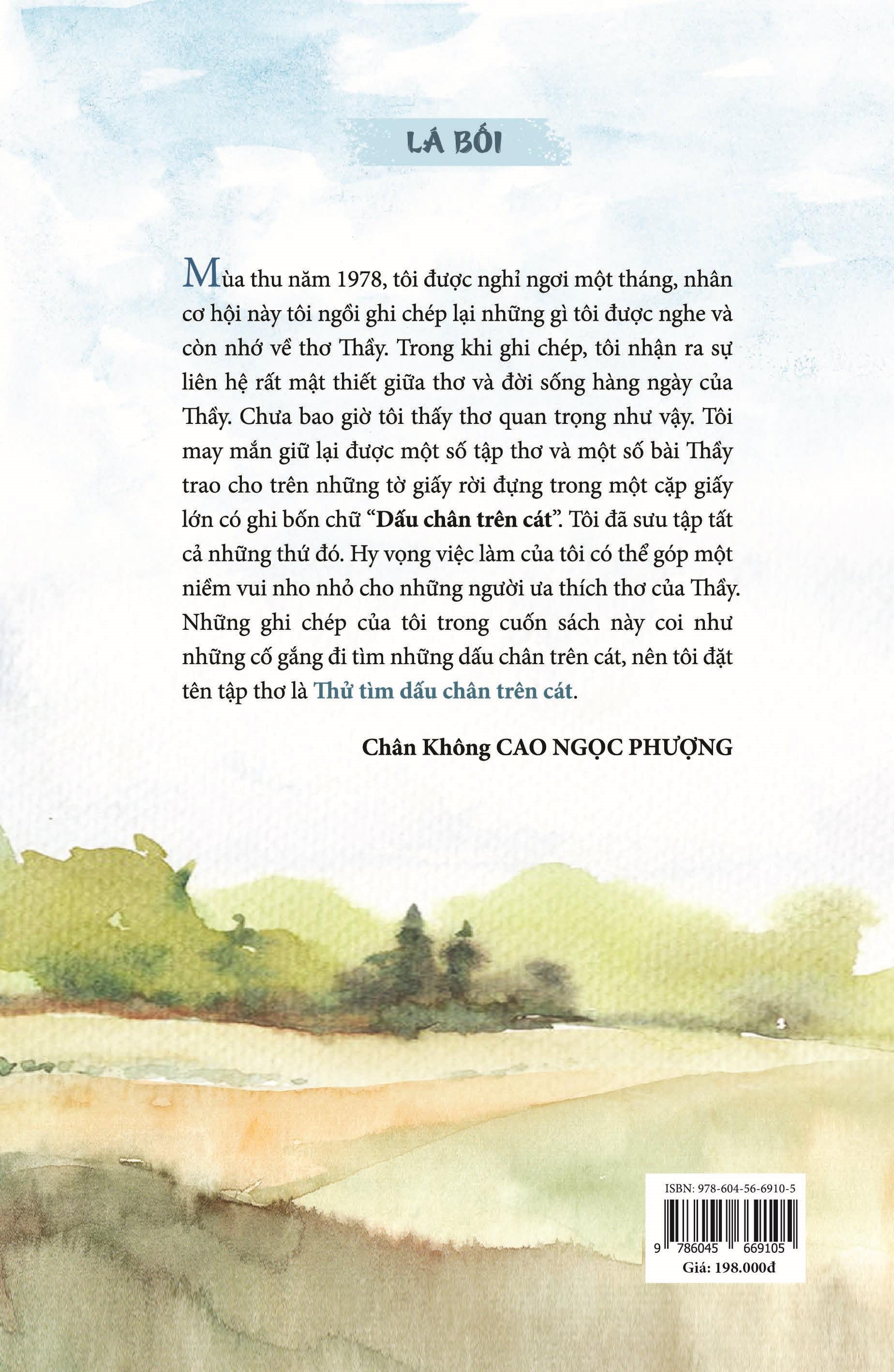 Thử tìm dấu chân trên cát - ghi chép về thơ thầy Nhất Hạnh