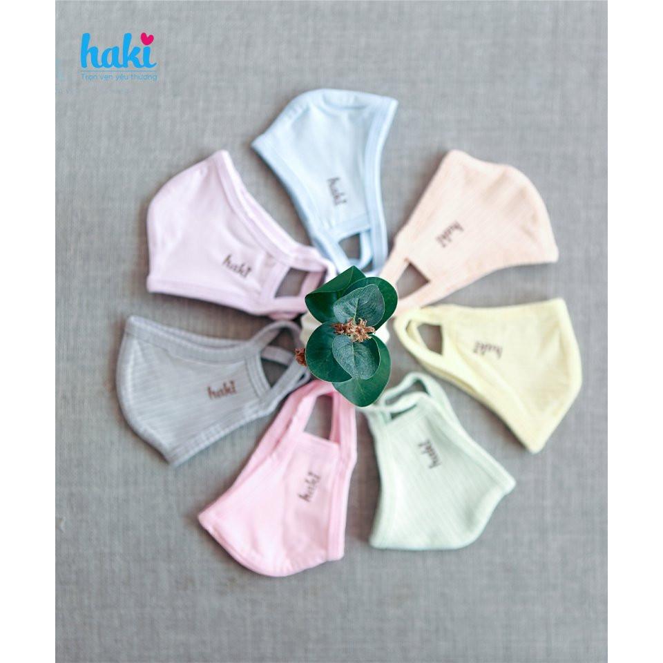 Khẩu trang cho bé vải modal và vải sợi tre HAKI siêu mềm mịn thoáng mát