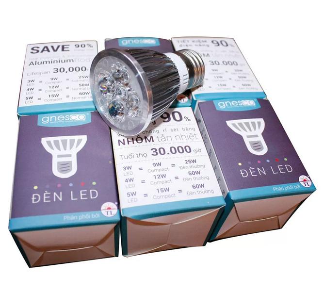 Bộ 5 cái đèn LED chiếu điểm thân nhôm Gnesco 5W E27 (Trắng)