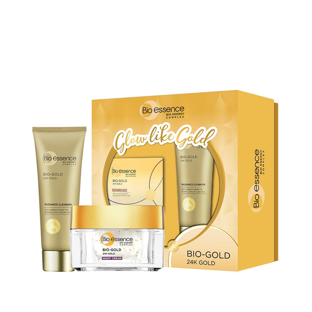 Hộp quà Bio-essence Gold [Kem dưỡng đêm 40g và Sữa rửa mặt 100g] - Bộ chăm  sóc da mặt | InnisfreeShop.vn