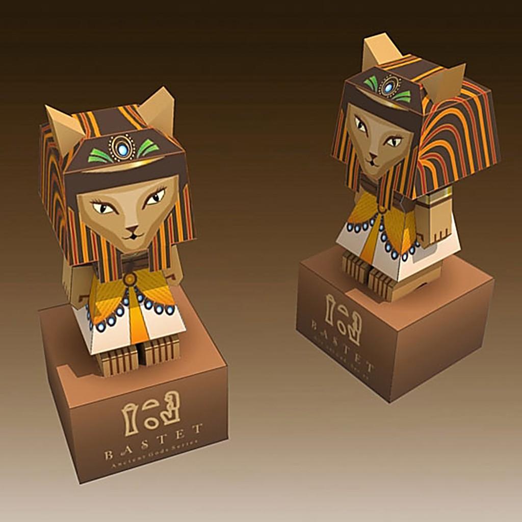Mô hình giấy đồ chơi Bastet - Ancient Egyptian Goddess Ai Cập