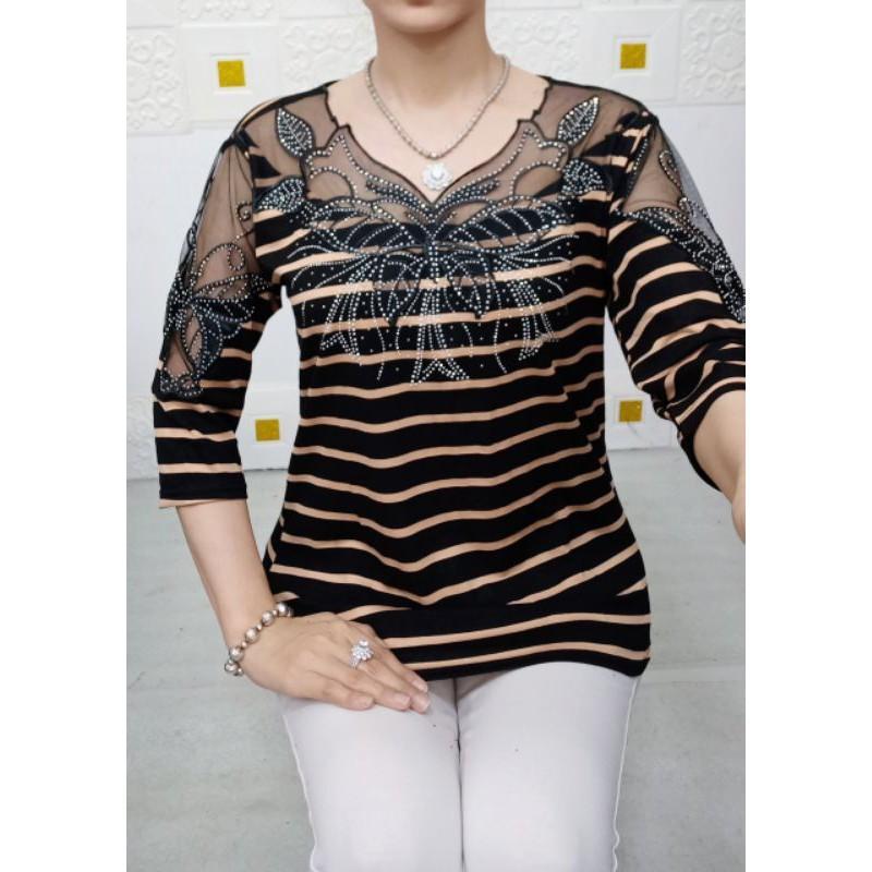 Áo trung niên cho mẹ - thời trang trung niên cao cấp. bigszie 50-75kg