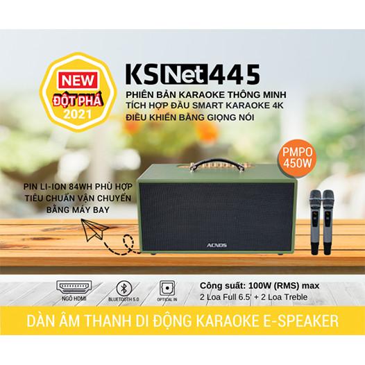DÀN ÂM THANH DI ĐỘNG KSNET445 - HÀNG CHÍNH HÃNG