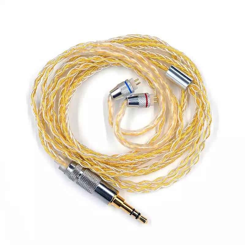 Cáp vàng bạc cho tai nghe KZ ZSTpro/AS10/ZSN/ZS10Pro/MMCX - Hàng nhập khẩu
