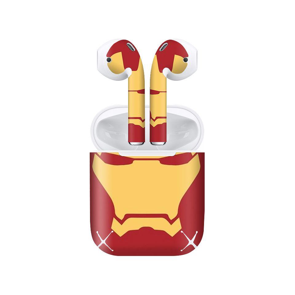 Miếng dán skin chống bẩn cho tai nghe AirPods in hình thiết kế - atk001 (bản không dây 1 và 2)