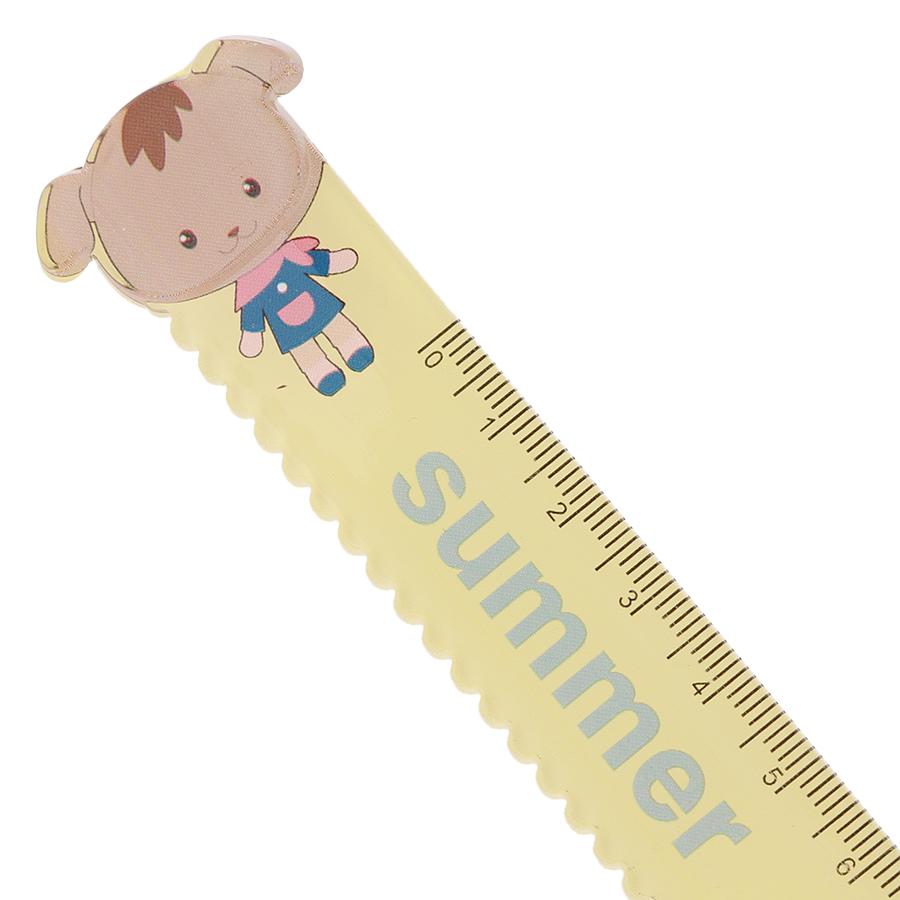 Thước Kẻ Nhựa 15cm Có Răng Cưa - Summer