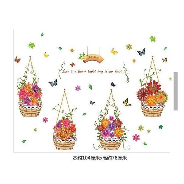 Decal dán tường Flower love ZOOYOO XL7217