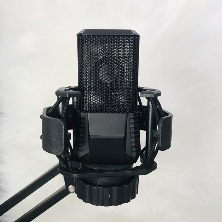 Micro thu âm V22 + chống sốc, hát karaoke, livetream chuyên nghiệp 2020