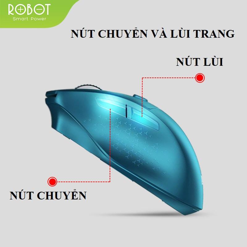 Chuột Không Dây ROBOT M320 2.4GHz - Khoảng Cách Tín Hiệu 20m - Hàng Chính Hãng