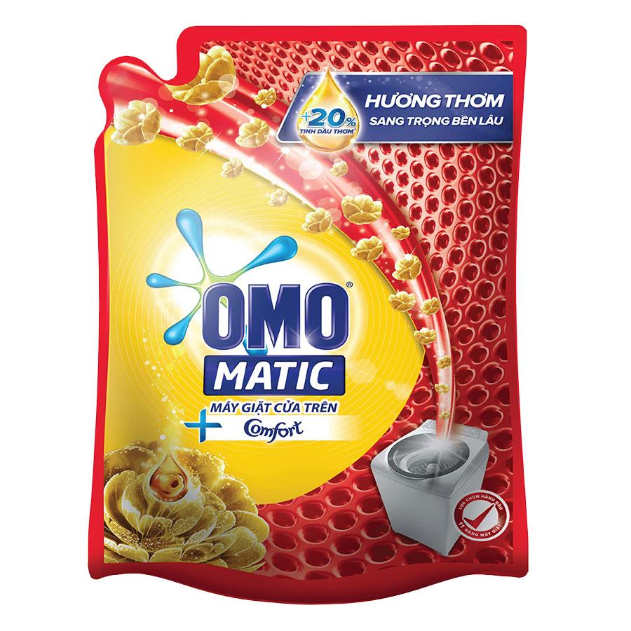 Nước Giặt OMO Matic Comfort Tinh Dầu Thơm Cho Máy Giặt Cửa Trên 2.3KgTúi