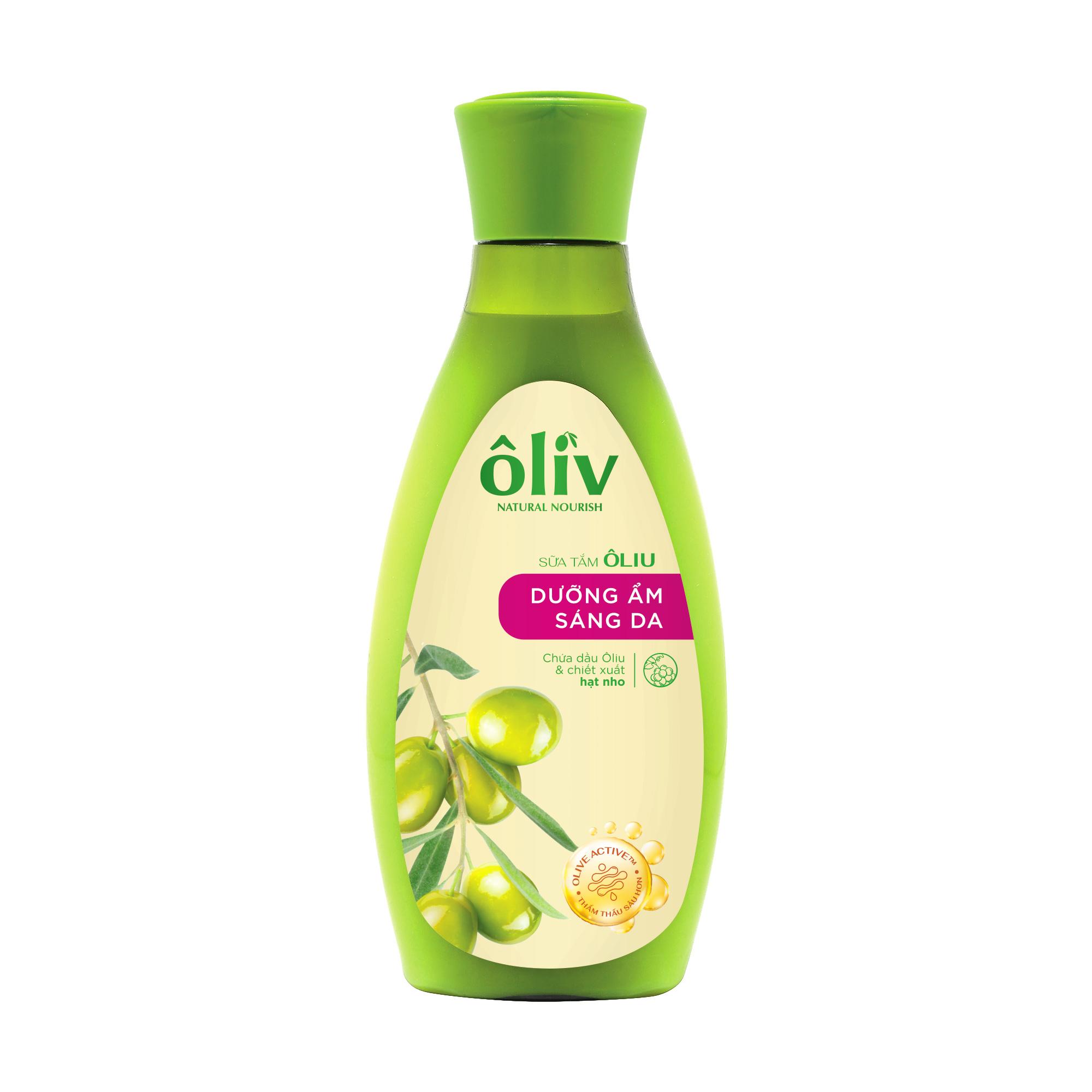 Sữa Tắm Oliu Nguyên Chất Oliv Dưỡng Ẩm Sáng Da 250ml