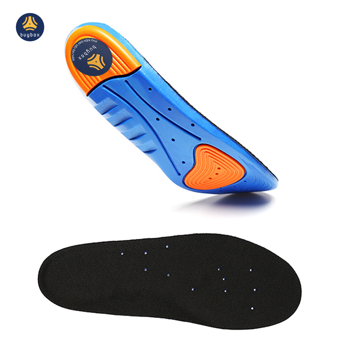 Lót giày thể thao EVA biết thở và có 2 đệm chịu lực hỗ trợ vận động thể thao - Đen phối xanh - buybox - BBPK155