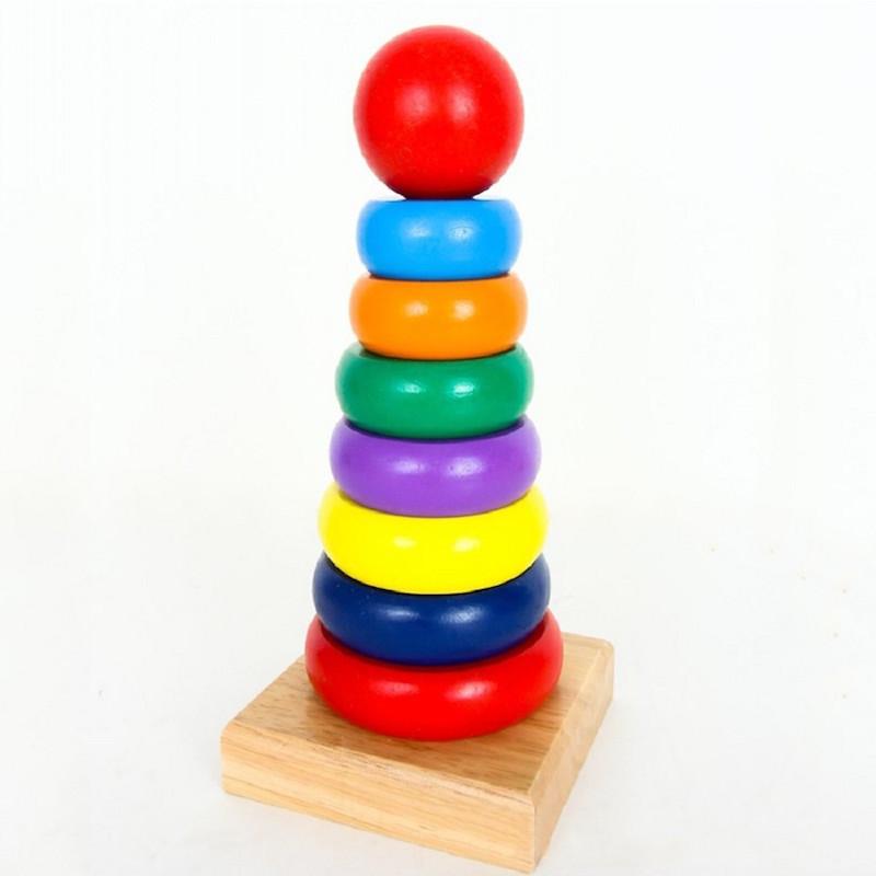 Đồ chơi gỗ cao cấp - Tháp cầu vòng