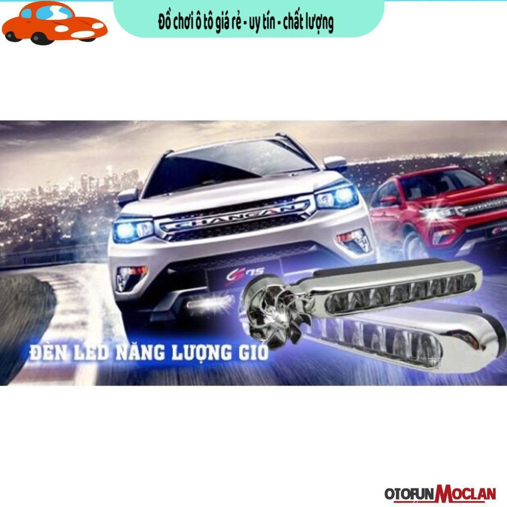 2 chiếc Đèn led năng lượng gió trang trí xe ô tô xe máy