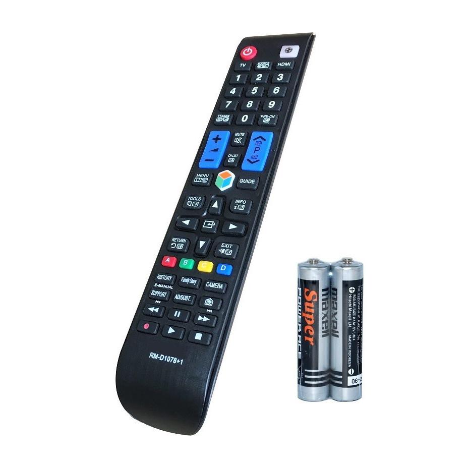 Remote Điều Khiển Dành Cho Smart TV, Internet TV, TV Thông Minh SAMSUNG RM-D1078+1 Grade A+ (Kèm Pin AAA Maxell)