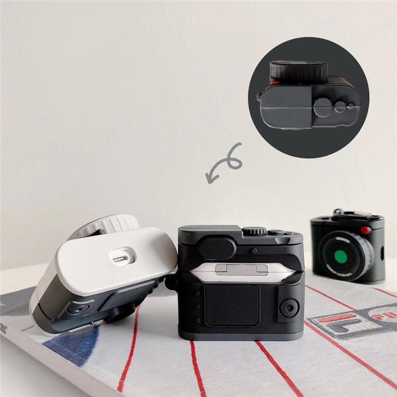 Bao Case Cho Airpods 1/ Airpods 2 / Airpods Pro Hình Máy Ảnh