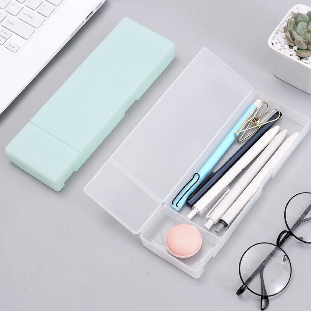 Hộp bút nhựa mờ nhiều màu